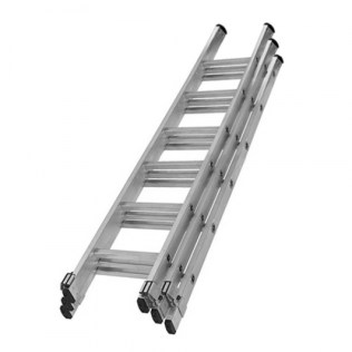 3 section step ladder creamery