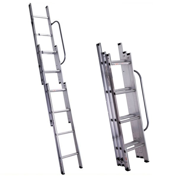 3 section step ladder technique