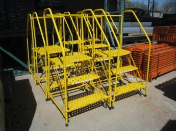 rolling warehouse ladders