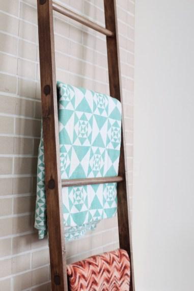wooden ladder for blankets