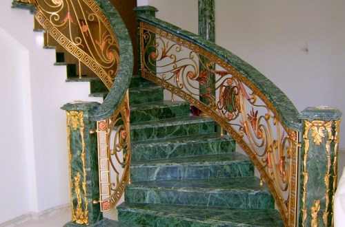Marble stairs in the interior of the house