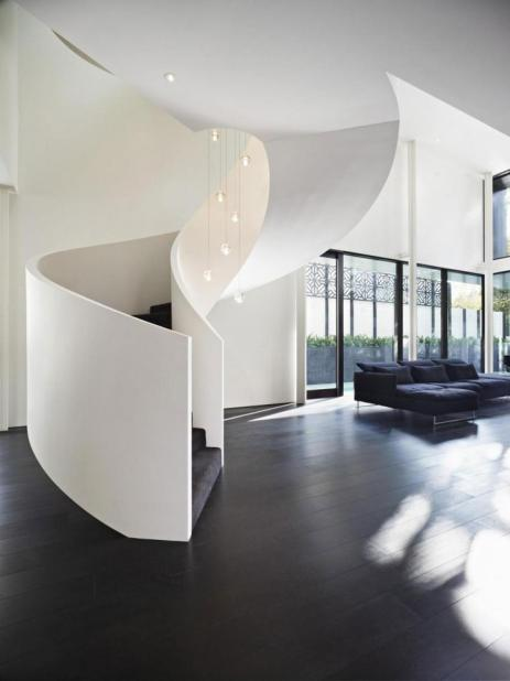 concrete stair design support spacing