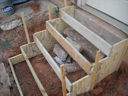 concrete stairs construction
