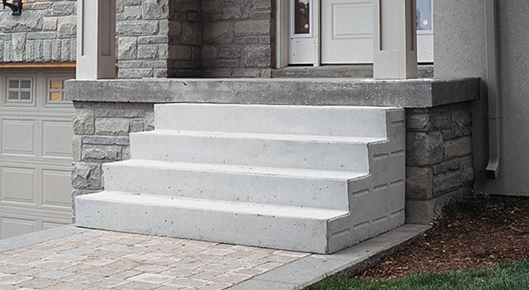 concrete stairs in a private house