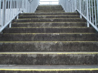 concrete stairs outside