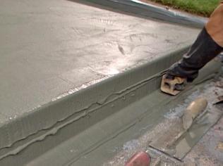 fixing concrete steps