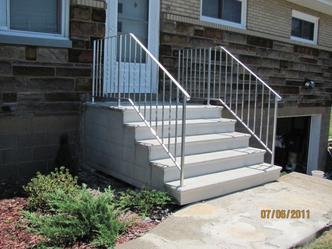 handrails for concrete steps