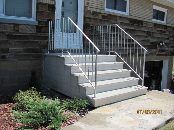handrails for concrete steps