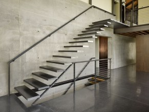 metal stair design and layout