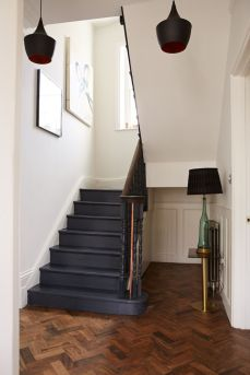 painting wooden stairs