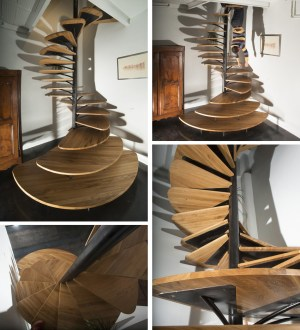 spiral wooden staircases