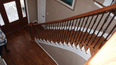 wood stair treads and risers
