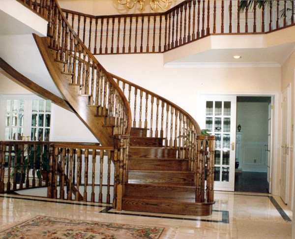 wooden stair design plans