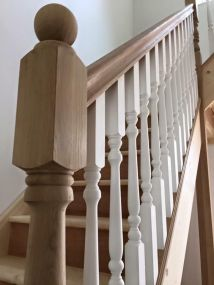 wooden staircase spindles