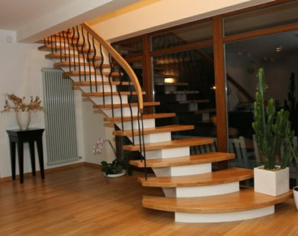 beautiful wood stairs images_58