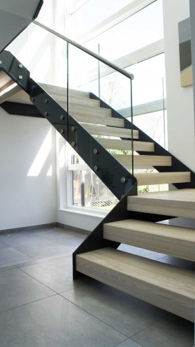 contemporary metal stairs