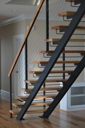 diy metal stairs with wood treads_2