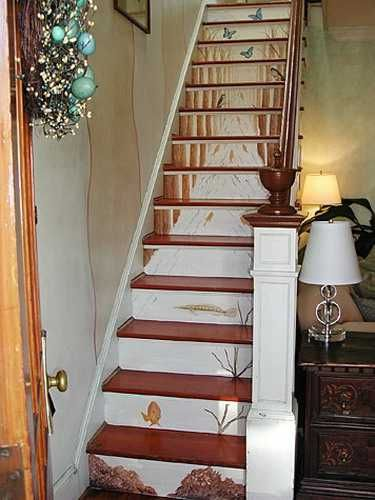 painted wooden staircase ideas_10