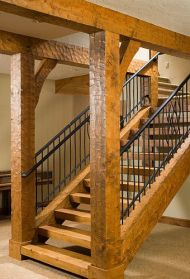 stairs wood framed house_8