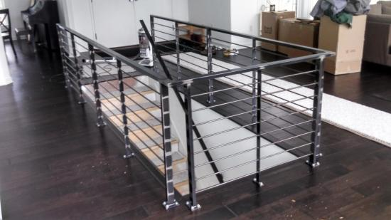 welded stair handrails