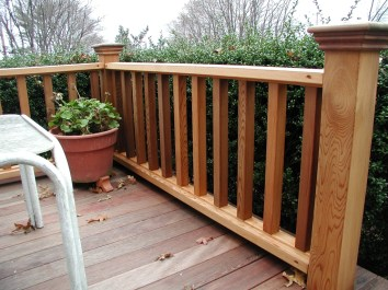 Curved Wood Porch Railing Curved Wood Porch Railing patio pvc railing porch railing ideas building a deck railing 1024 X 768