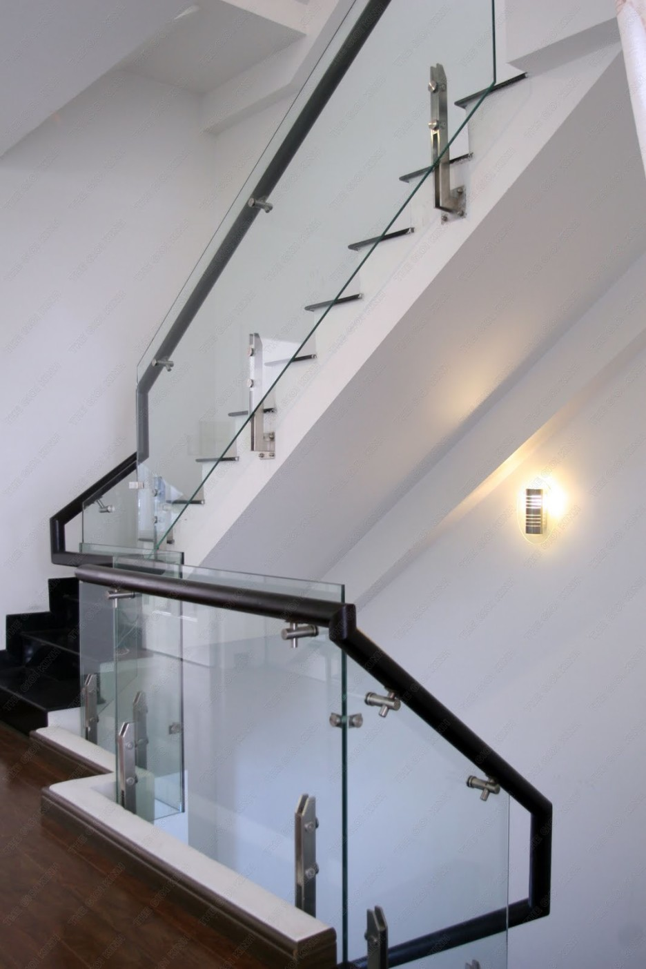 white stairs with clear glass railings images_5