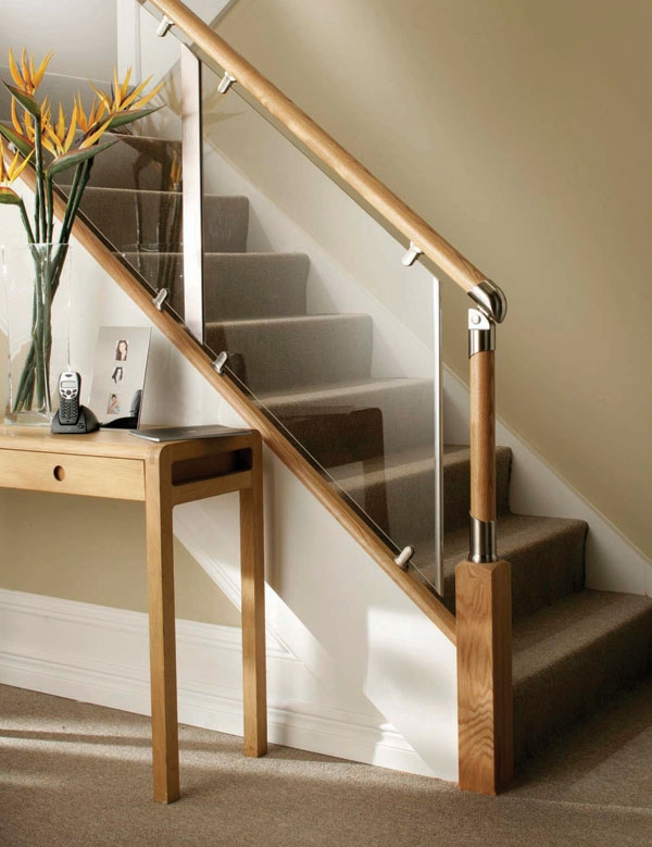 Chrome Plated Modern Railings And Handrails – Staircase Design | Glass And Chrome Staircase | Fusion | Black Stained | Frameless | Timber Glass | Glass Paneled