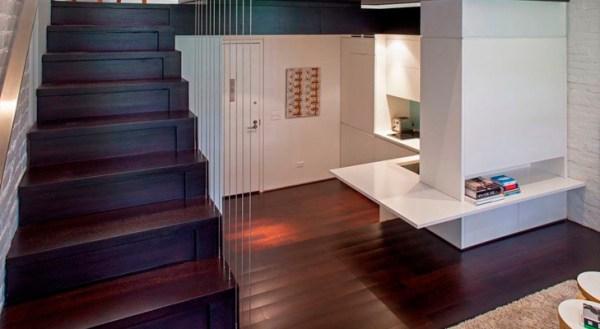 Kitchen under the stairs