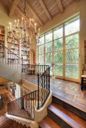 Stairs in a wooden house photos of interfloor