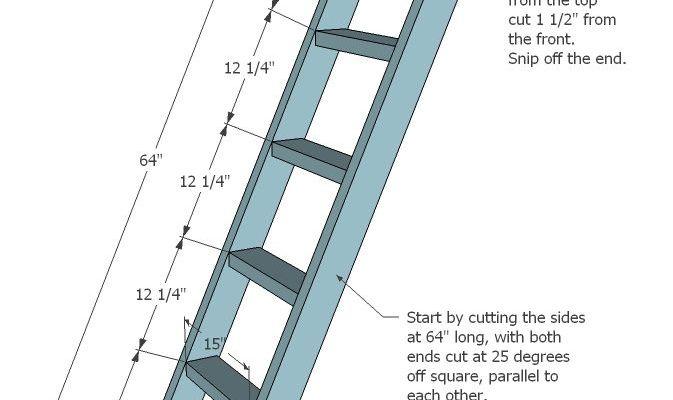 handmade house ladder standard_1