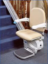 Sterling Handicare 950 Straight Stair Lift via Stair Lifts Atlanta