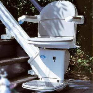Sterling Handicare 1000 and 2000 outdoor stair lifts