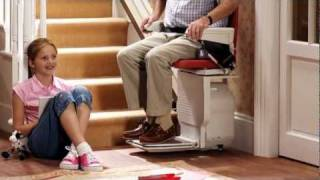 How a Stair Lift Works on Straight Stairways
