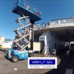 Abby Lifts Vertical Platform Lift set up on the Cape Might Ferry