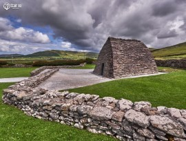 37721249 - the gallarus oratory on the dingle peninsula, republic of ireland, is a major tourist attractions