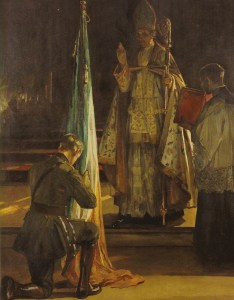 Sir John Lavery Blessing of the Colours