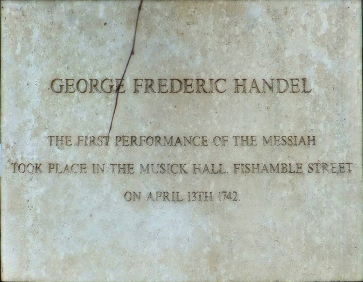 OTD in 1742 – Handel's Messiah is performed for the first