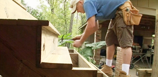 How To Build Wooden Deck Stairs Stairsideas Com | Pre Built Wood Stairs | Exterior | Landing | Free Standing | Lvl | Basement
