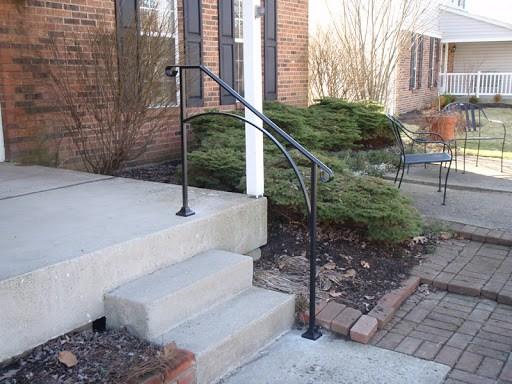 Iron X Handrails Stair Solution   Exterior Handrails For Brick Steps   Staircase   Vinyl Railing   Wrap Around   Deck Railing   Wood
