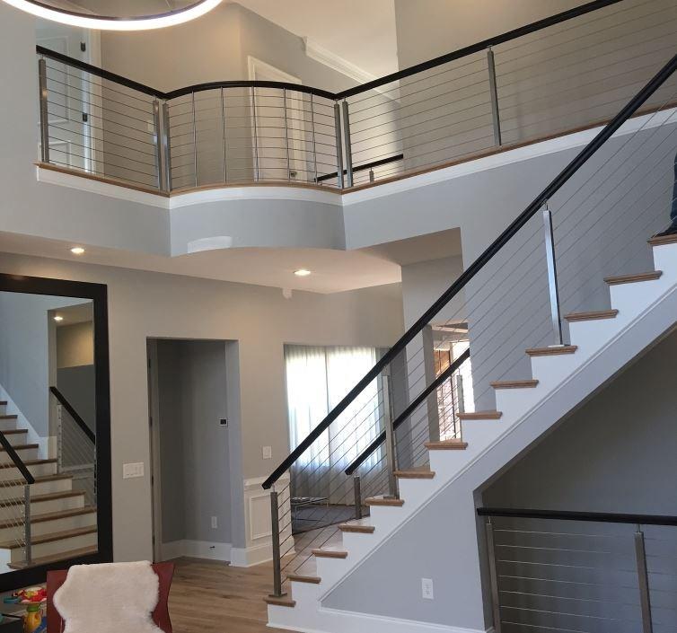 Modern Stair Railing Systems   Modern Stair Railings Interior   Minimalist   Luxury   Straight   Wall Mounted   Brushed Nickel