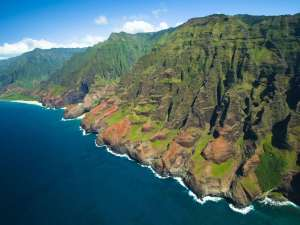 Aerial tour of Waimea and the Na Pali coast with Jack Harter helicopters.