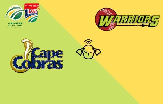Warriors vs Cape Cobras, Momentum ODI Cup 2020, 29th Match Prediction