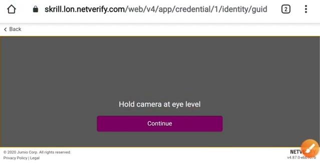 Skrill Video KYC Verification