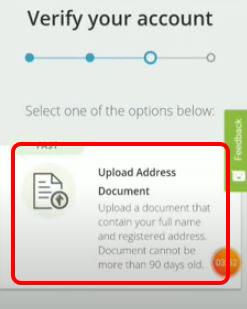 Upload Adress Document