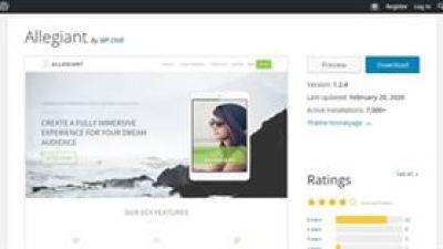 Allegiant - O tema WordPress mais personalizável