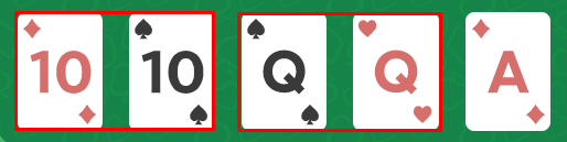 two pair - มือใหม่ Poker