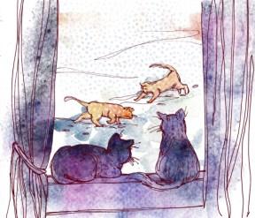 illustrations by Alexandra Gavrila for soundscape by Diana Mesesan
