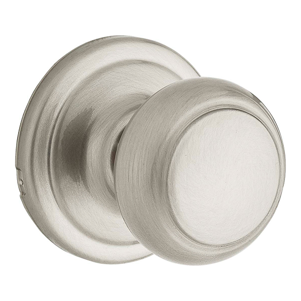 Troy Passage Knob With Satin Nickel Finish