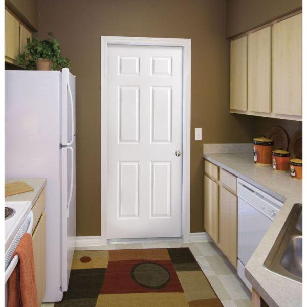 6 Panel Masonite Interior Door in kitchen