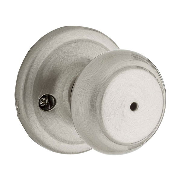 Troy Privacy Knob with a Satin Nickel Finish